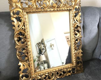 Stunning Antique Gold French Mirror