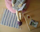 Tapis en laine de coton tissé pour BJDs et petites poupées