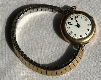 Vintage Gold Swiss 15 Jewel Pocket Or Wrist Watch