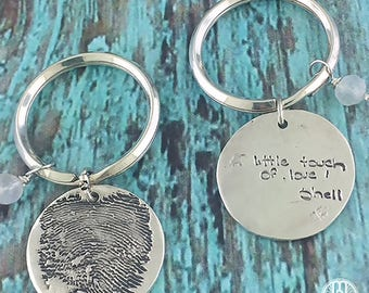 Fingerprint/Handwriting Charm Keychain
