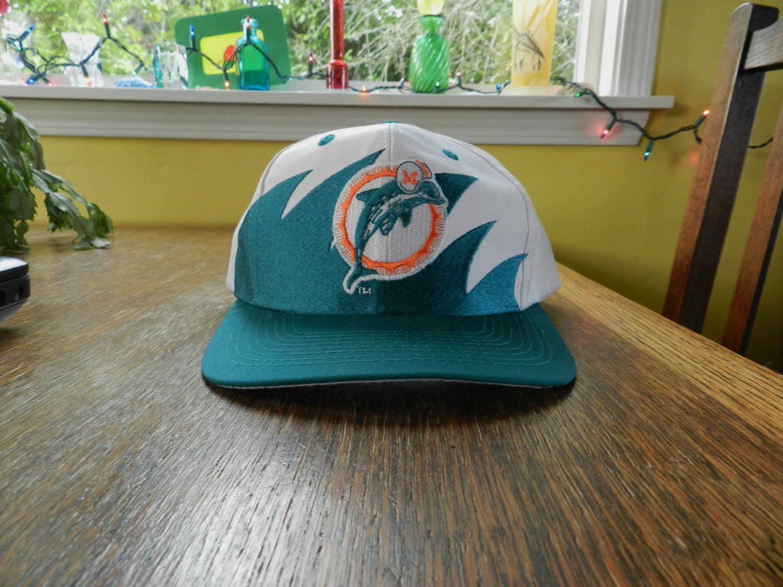 hot sale online e24bb 3b9a6 ... inexpensive vintage miami dolphins hat snapback cap 90s logo 7  sharktooth design one size mint splash
