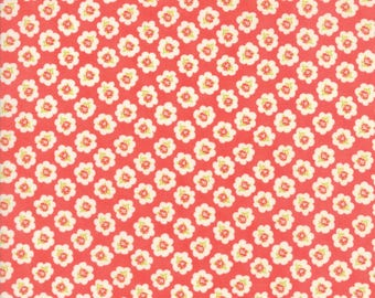 Coney Island Candy Apple Red Cotton Blossoms by Fig Tree Quilts of Moda Fabrics, 20281 12, Sold In Half Yard Amounts