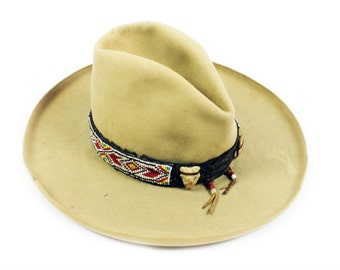 1930s Hat with Beaded Arrow Hat Band
