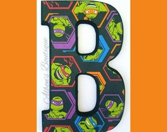 TMNT Nursery Letters, Wooden letters, Teenage Mutant Ninja Turtles, Hanging Letters