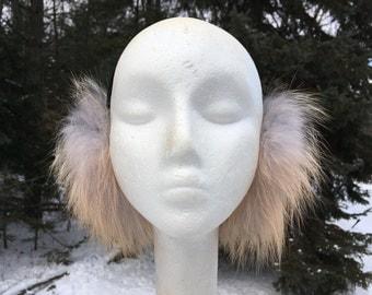 Pearl Gold Fox Fur Earmuffs