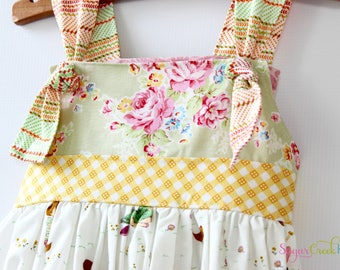 Summer Days Knot Dress, Girl's Sizes:  12-18mo, 2T, 3/4T, 5/6, 7/8
