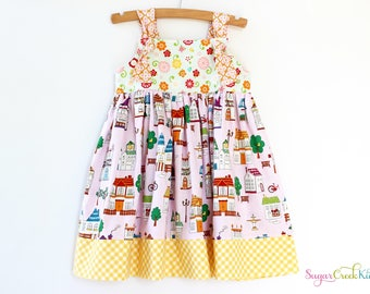 Mayberry Knot Dress, Girl's Sizes:  12-18mo, 2T, 3/4T, 5/6, 7/8