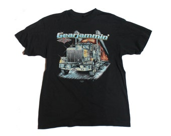 LRG | 1989 3D Emblem Truckers Only Gearjammin' T Shirt Ripely, Ny Truck Stop
