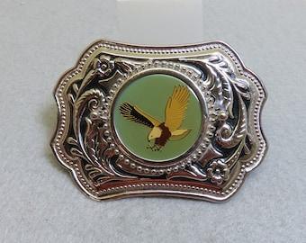 Bald Eagle Belt Buckle, Western Design, Vintage, MINT