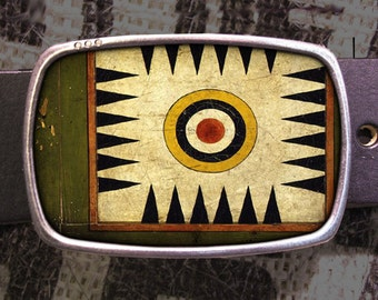 Vintage Game Board Belt Buckle A01