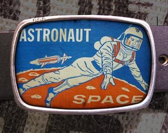 Vintage Space Astronaut Belt Buckle S01