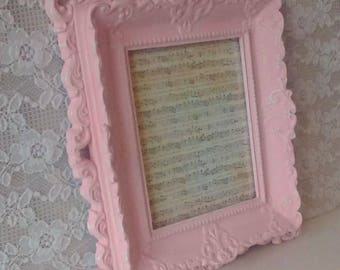Savannah's Cottage, Pink Frame, Painted Vintage Frame, Shabby Cottage, Girl's Nursery, Baby Shower Gift, Wall decor