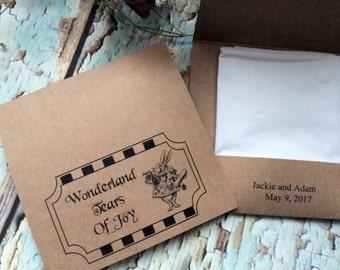 Alice in Wonderland Tears of joy tissue packs set of 25