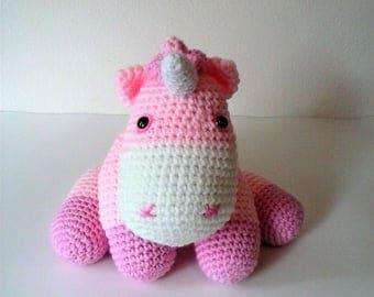 Cuddly Baby Pink and Blush Unicorn (Finished Doll)