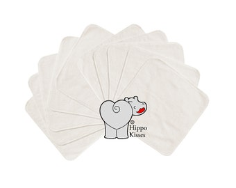 Baby Washcloths, Off White 10 Pack