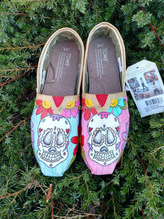 Items similar to Price includes shoes. Dia De Los Muertos ...