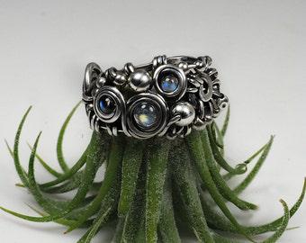 Natural moonstone ring natural gemstones