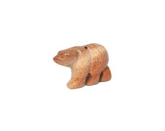 Jasper Bear Carved Bead
