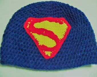 Superman! Crocheted Hat