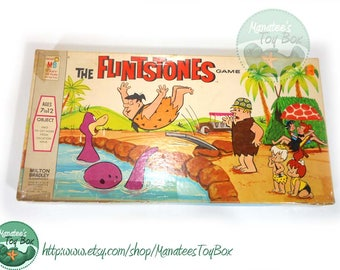 The Flintstones Game: Bad Vacation 1970s Board Game