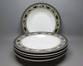 Mikasa ARABELLA set of 5 rimmed soup bowls .