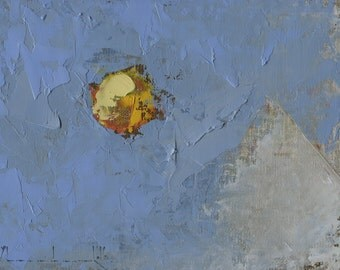 Original Painting by John Shanabrook - 5 x 7 - Winter Has Its Blue