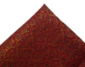 One yard of Red Gold Indian brocade fabric