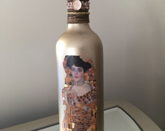 Vintage Gustav Klimt Master Piece, Decorative Bottle, Home Decor, Vases, Collectables, Accent Pieces