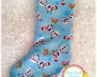 Adorable Santa Olaf RTS Medium 14' Stocking!!
