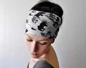 ELEPHANT Print Head Scarf - Bohemian Hair Wrap - Elephant Jersey Scarf - Animal Print Yoga Headband - Hair Accessories - Elephant Love