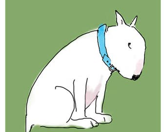 Guilty Dog Card English Bull Terrier Card in two versions