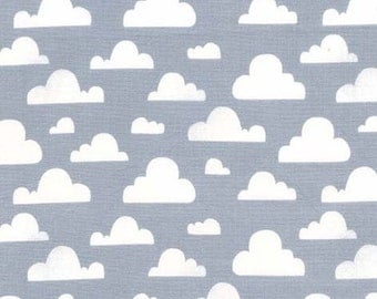 Clouds Minky Baby Blanket, Cloud Nursery Bedding, Cloud Baby Blanket, Gray and White Minky Baby Blanket, Cloud Crib Bedding, Gender Neutral