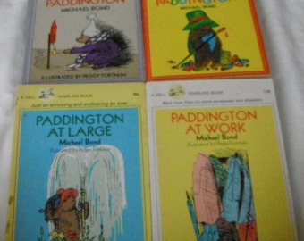 4  Vintage Softcover Paddington Bear Books by Michael Bond