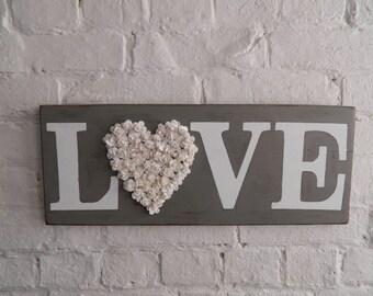 LOVE Wooden Sign - Repurposed Wood