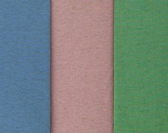 TWO-TONE MELANGE viscose blend jersey