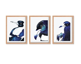 Magpies Series - THREE Limited Edition Print