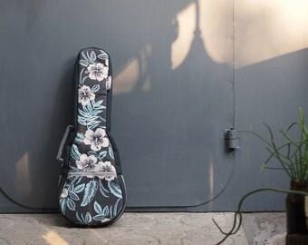 Concert ukulele case - Hawaiian Hibiscus - ukulele bag (Ready to ship)