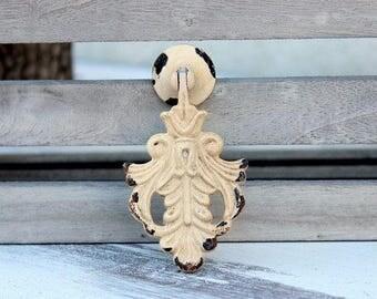 White Drawer Pull Knob Cabinet Knob Dresser Knob Rustic Antique White