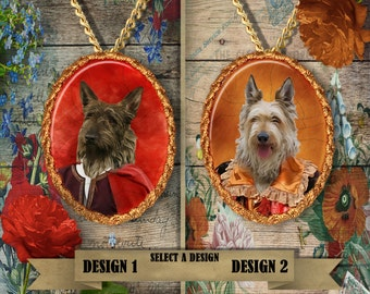 Berger Picard Jewelry. Berger Picard  Pendant or Brooch. Berger Picard Necklace. Berger Picard Portrait. Custom Dog Jewelry by Nobility Dogs