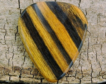Black&White Ebony - Wooden Guitar Pick - Wood Guitar Pick - Wood Plectrum - Exotic Wood - Wood Gift