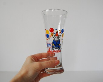 Vintage Bud Light Glass Spuds Mackenzie Glass, Beer Drinking Glass, 1987 Anheuser Busch, Party Animal Dog