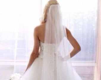 Chapel length veil,cathedral length veil