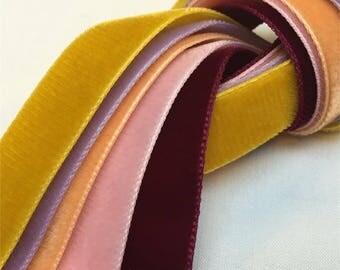 """Velvet Ribbon 5 Yards 3/8""""width"""