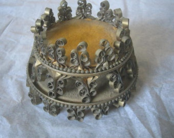 Vintage Tin Can Art/Crown/statuary crown