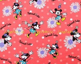 C350 - 140cmx100cm Cotton Fabric - Cartoon - Mickey, flower and dot
