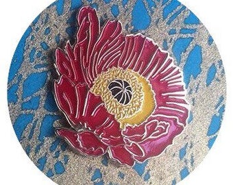 Golden Poppy Enamel Pin