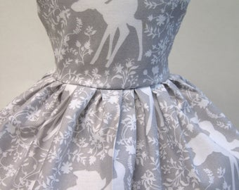 Bambi in Silhouette, Grey Sleeveless Dress for your 18 Inch Doll C
