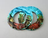 Alcohol Ink Painted Earring Components, 1 Inch OD Aluminum Washers, One of a Kind, Ready to Ship