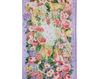 15% off thru 3/31 fabric panel FAIRY DREAM Flower Fairy Fairies from Michael Miller-