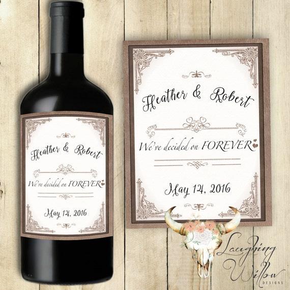 Wedding Engagement Wine Label Pdf: We've Decided On Forever Wine Label Engagement Party Wine